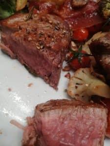 Gemüse mit Bio-Rindfleisch